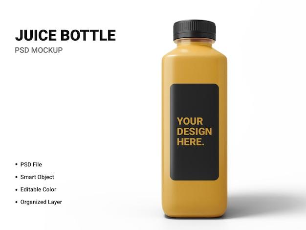 Projeto de maquete de garrafa de suco isolado Psd Premium