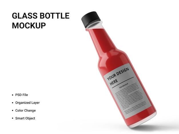 Projeto de maquete de garrafa de vidro isolado Psd Premium