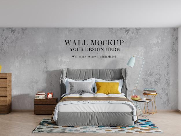 Projeto de maquete de parede de quarto moderno e elegante Psd Premium