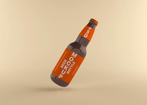 Projeto de maquete de rótulo de garrafa de cerveja isolado Psd Premium