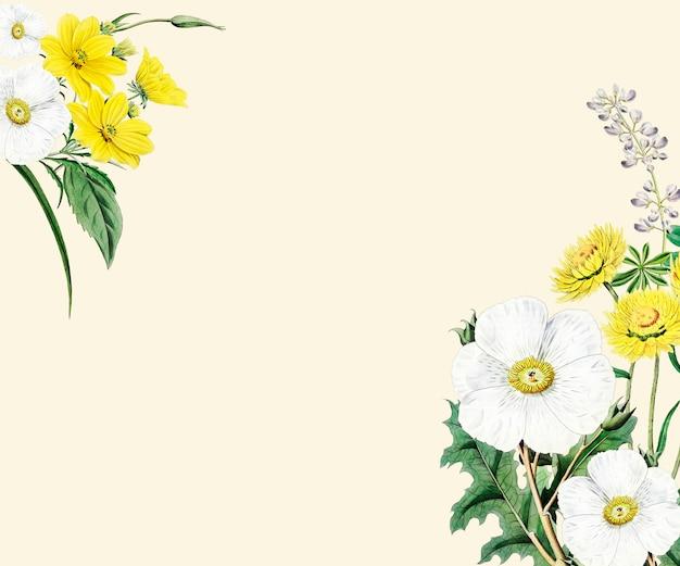 Projeto do frame da flor Psd grátis