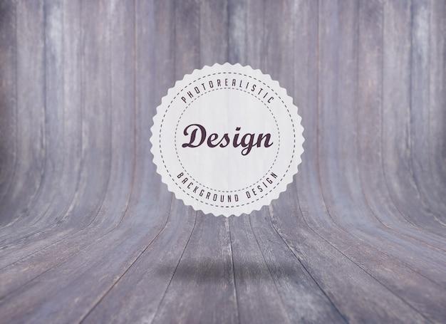 Projeto do fundo da textura de madeira realista Psd grátis