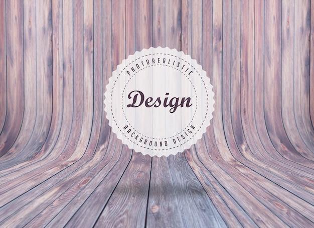 Projeto do fundo realista woodboard Psd grátis