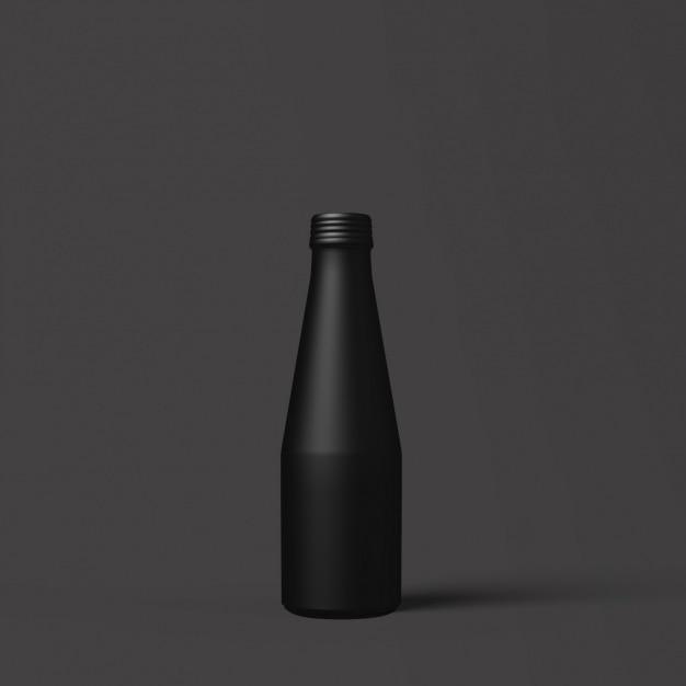 Projeto do molde do frasco preto Psd grátis