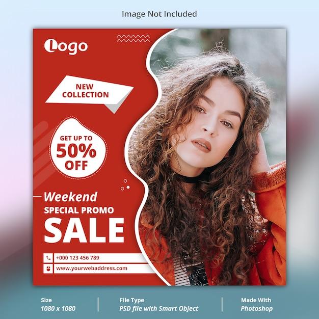 Promo especial venda social media banner modelo Psd Premium