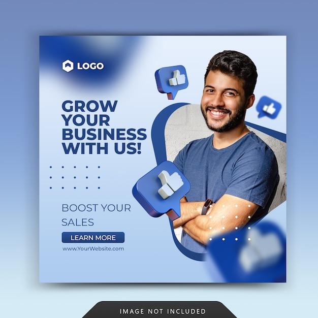 Promoção de negócios para mídia social modelo de postagem instagram Psd Premium