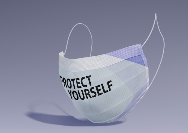Proteja-se a mensagem na máscara Psd grátis