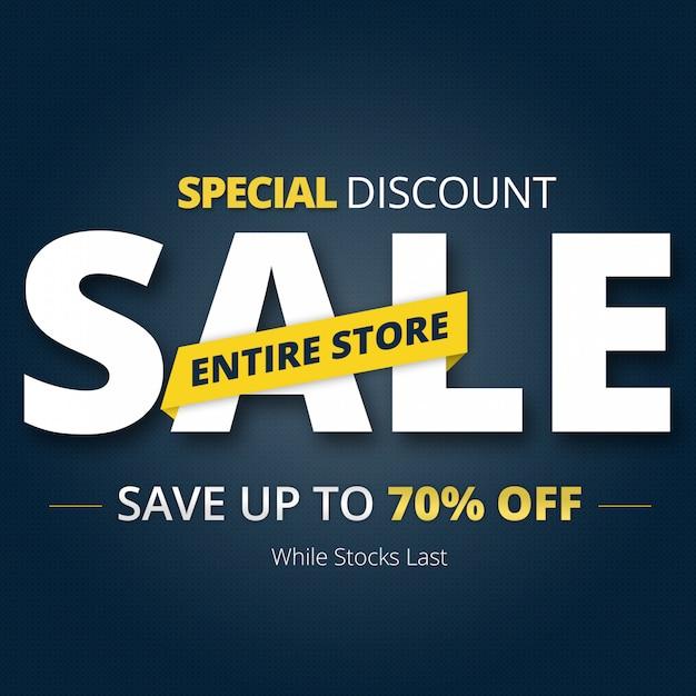 Psd de crachá de banner de venda Psd Premium