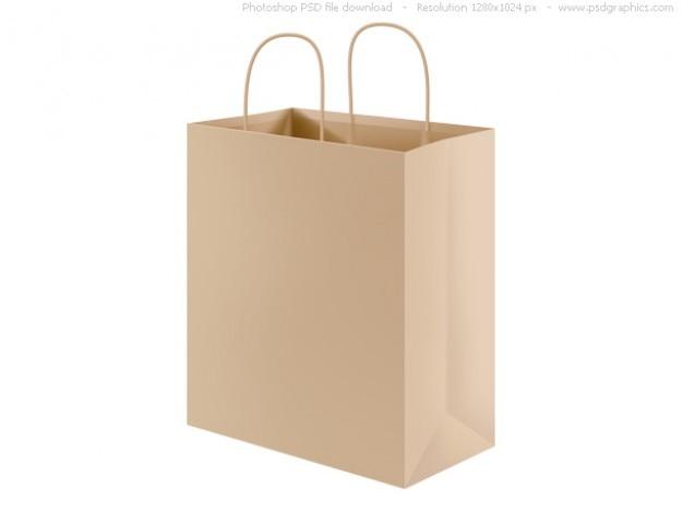 bfc83ab3102 Psd sacola de compras de papel reciclado