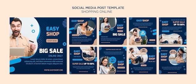 Publicação online de mídia social do shopping Psd grátis
