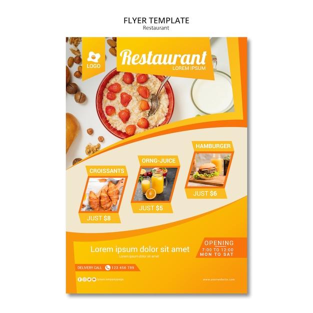 Publicidade de marketing com modelo de panfleto Psd grátis