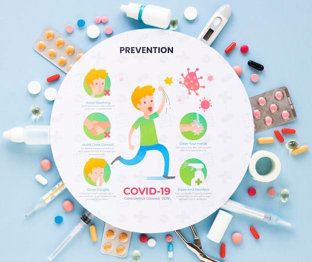 Quadro com pílulas Psd grátis