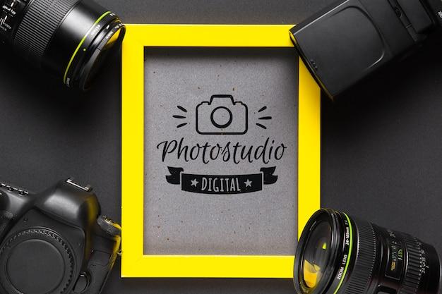 Quadro de câmeras em torno do quadro Psd Premium