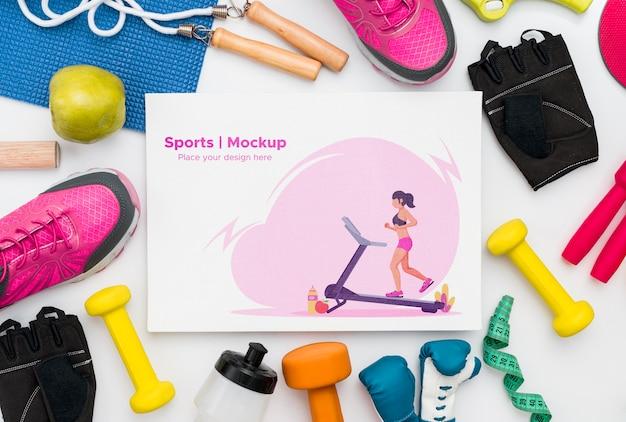 Quadro de ferramentas de esporte Psd grátis