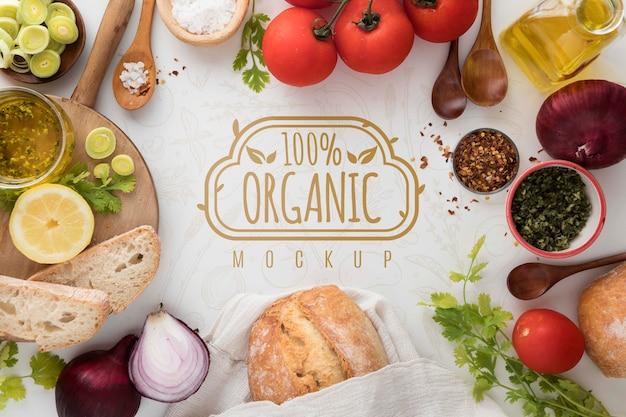 Quadro de vegetais orgânicos Psd grátis