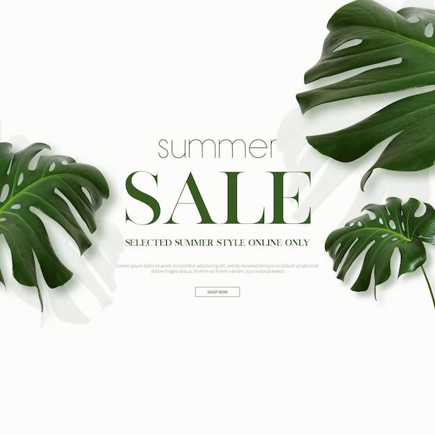 Quadro de venda de verão & fundo Psd Premium