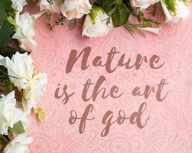 Quadro floral colorido com mensagem inspiradora Psd grátis