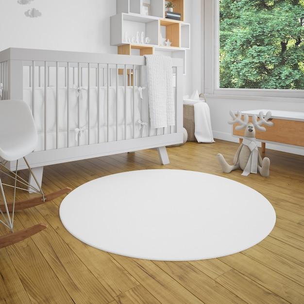 Quarto de bebê com luminosidade Psd grátis