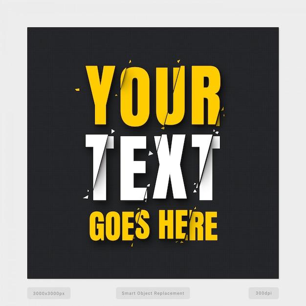 Quebrar efeito de texto Psd Premium