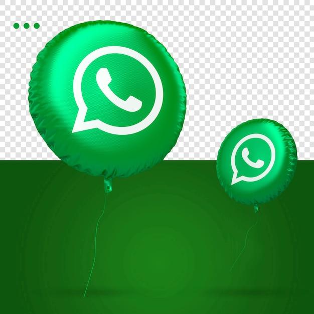 Rede social do ícone do balão 3d do whatsapp Psd Premium