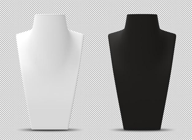 Renderização 3d de bustos de manequim isolados Psd Premium
