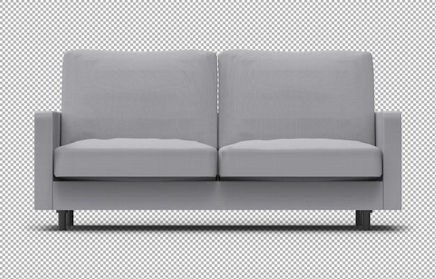 Renderização 3d de sofá isolado Psd Premium
