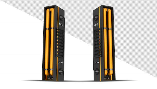 Rendição 3d da luz de neon do alfabeto Psd Premium