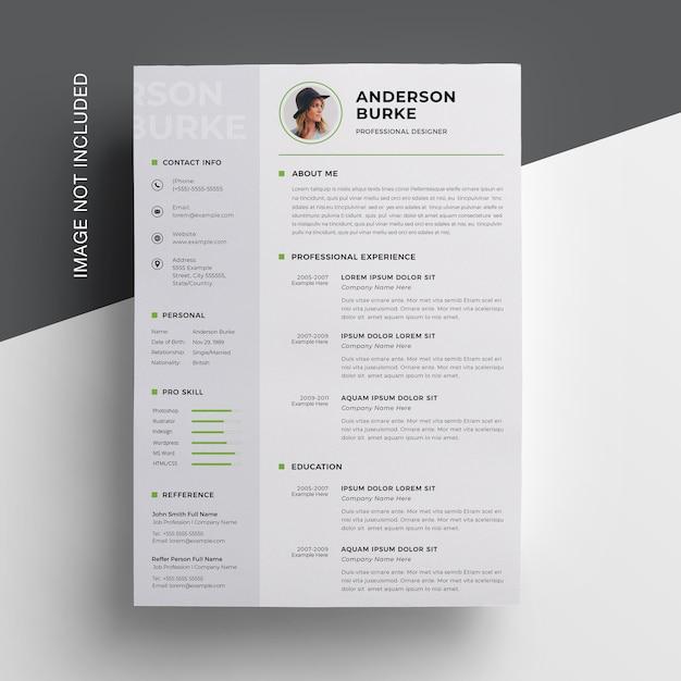 Resumo criativo com barra lateral Psd Premium