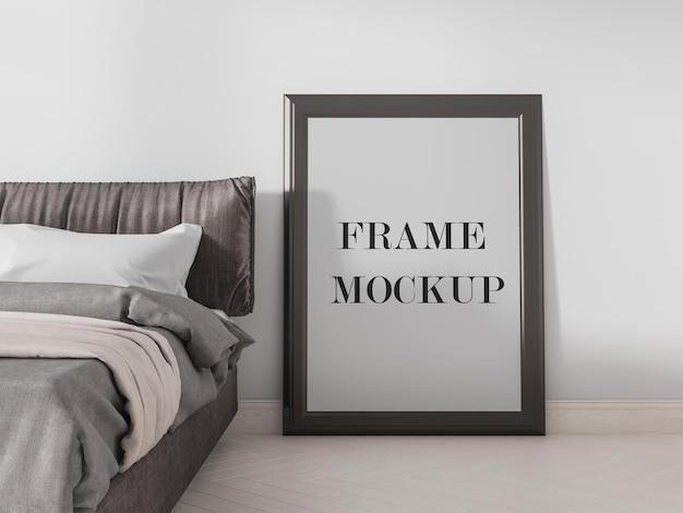Retrato de desenho de maquete de quadro vazio Psd Premium