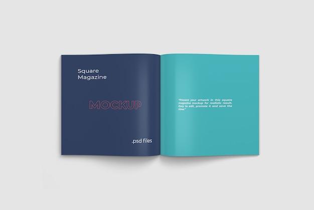 Revista aberta / maquete de livro vista de ângulo superior Psd Premium