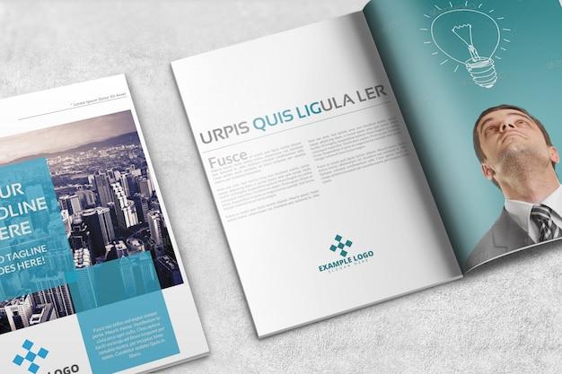 Revista ou brochura mockup Psd Premium