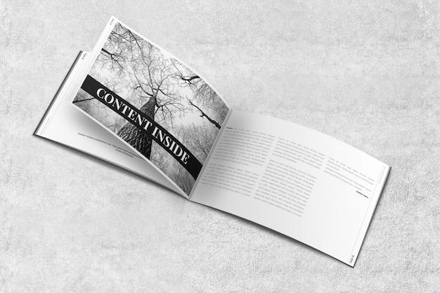 Revista paisagem ou brochura mockup Psd Premium