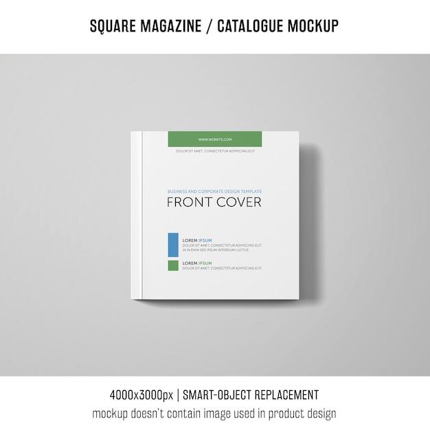 Revista quadrada ou maquete de catálogo Psd grátis