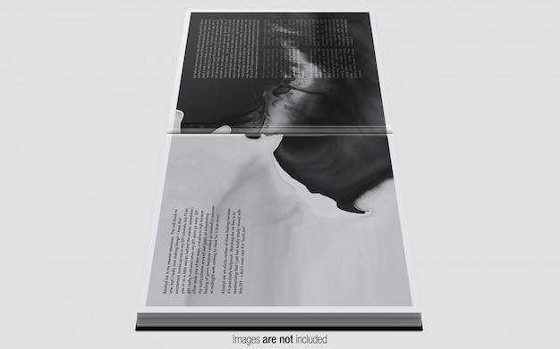 Revista quadrada psd maquete vista lateral Psd Premium