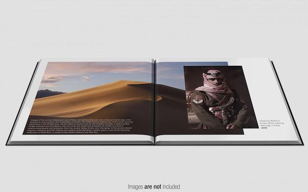Revista quadrada psd mockup frente perspectiva Psd Premium