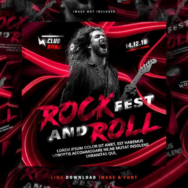 Rock flyer post Psd Premium