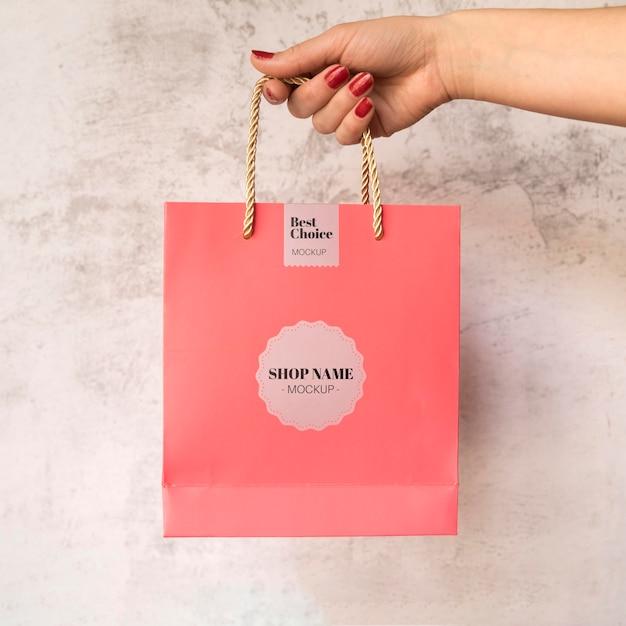 Saco com maquete de campanha de venda Psd grátis