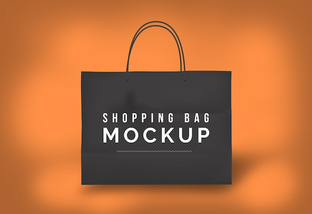 Saco de compras mockup saco de papel mockup sacola preta Psd Premium
