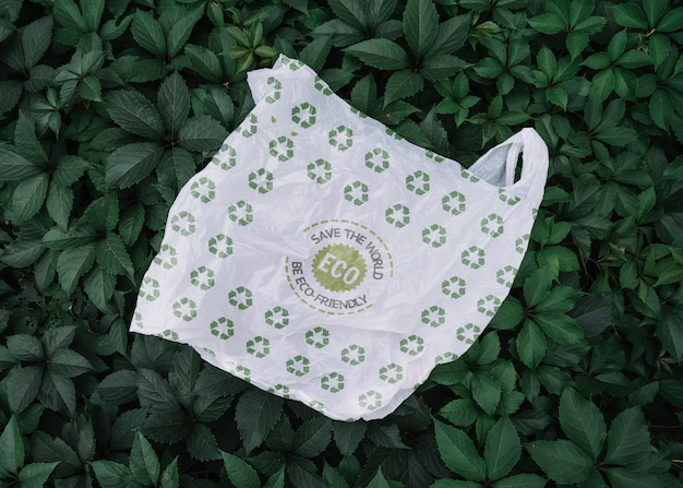 Saco ecológico com maquete Psd grátis
