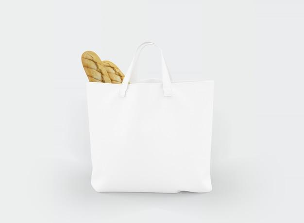 Sacola de tecido com comida dentro Psd grátis