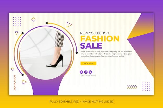 Sapatos de modelo de banner web simples moderno Psd Premium