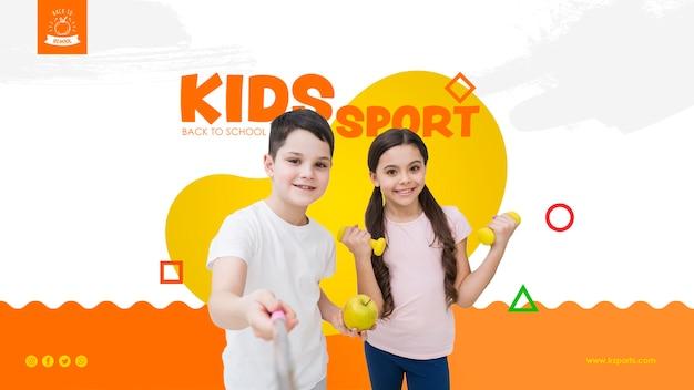 Selfie de modelo de esporte de crianças Psd grátis