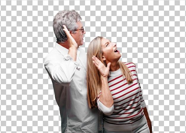 Senior legal marido e mulher prestando atenção Psd Premium