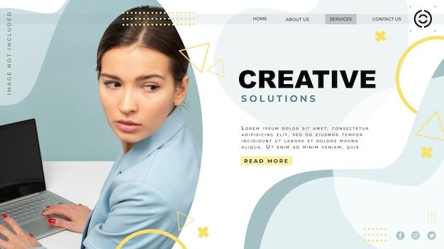 Site da página de destino do modelo Psd grátis