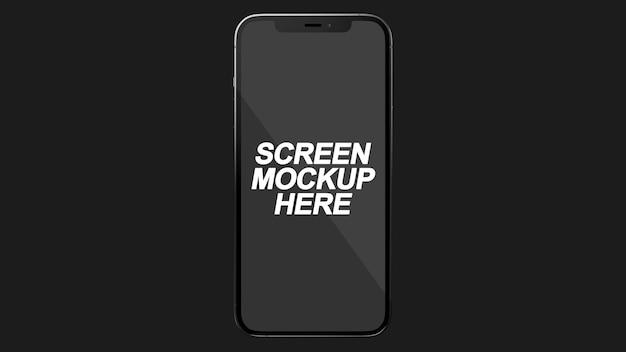 Smartphone 12 pro max black mockup psd Psd Premium