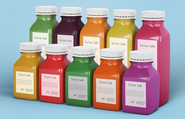 Smoothies de alimentação saudável para o conceito de desintoxicação Psd grátis