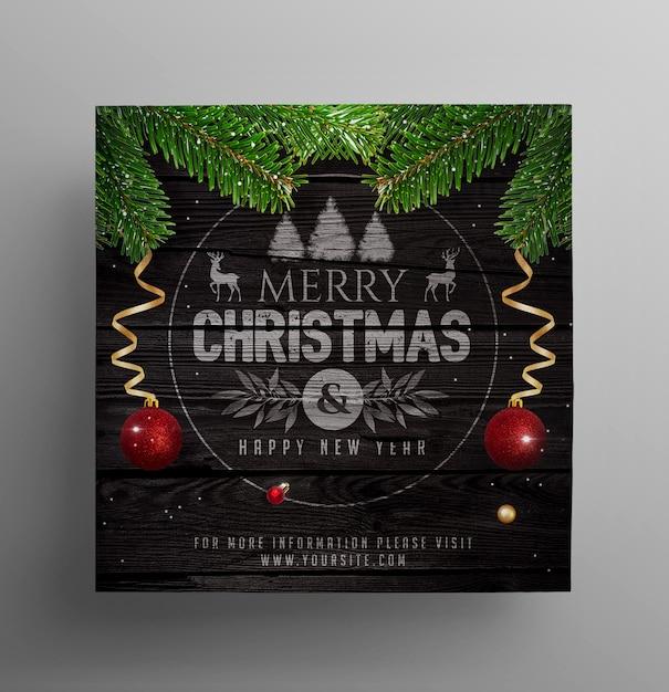 Social post festa de natal Psd Premium