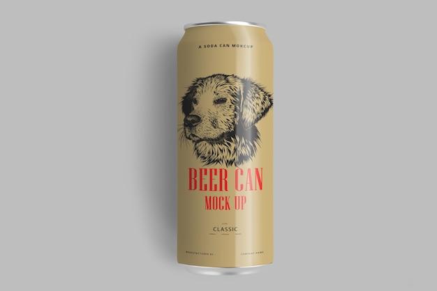 Soda ou cerveja pode maquete Psd Premium