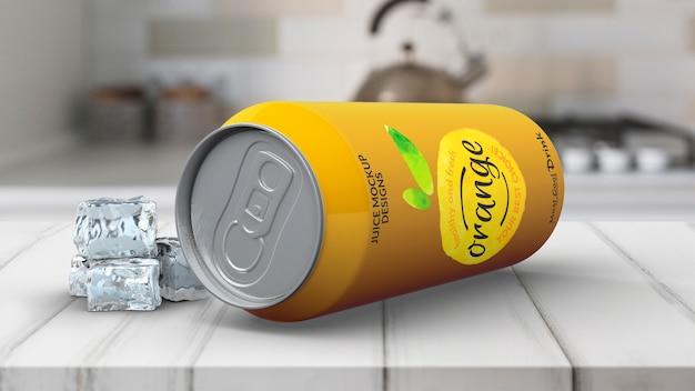 Soda pode maquete Psd grátis