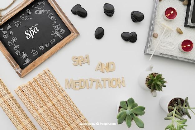Spa e composição de meditação Psd grátis